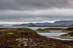 Onregelmatig gevormde Loch Eriboll in Noordelijk Schotland Stock Afbeeldingen