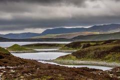 Onregelmatig gevormde Loch Eriboll in Noordelijk Schotland Royalty-vrije Stock Foto's