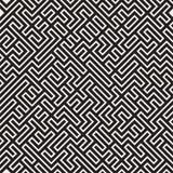 Onregelmatig Maze Line Abstract geometrisch Ontwerp als achtergrond Vector naadloos zwart-wit patroon Royalty-vrije Stock Foto