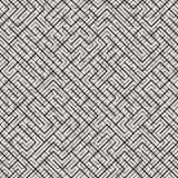 Onregelmatig Maze Line Abstract geometrisch Ontwerp als achtergrond Vector naadloos zwart-wit patroon Royalty-vrije Stock Foto's
