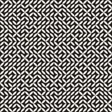 Onregelmatig Maze Lines Abstract geometrisch Ontwerp als achtergrond Stock Afbeelding