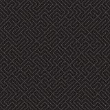Onregelmatig Maze Lines Abstract geometrisch Ontwerp als achtergrond Vector Naadloos Zwart-wit Chaotisch Patroon Stock Foto's