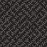 Onregelmatig Maze Lines Abstract geometrisch Ontwerp als achtergrond Vector Naadloos Zwart-wit Chaotisch Patroon Royalty-vrije Stock Foto's