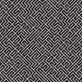 Onregelmatig Maze Lines Abstract geometrisch Ontwerp als achtergrond Vector Naadloos Zwart-wit Chaotisch Patroon Stock Foto