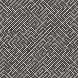 Onregelmatig Maze Lines Abstract geometrisch Ontwerp als achtergrond Vector Naadloos Zwart-wit Chaotisch Patroon Stock Afbeelding