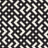 Onregelmatig Maze Shapes Tiling Contemporary Graphic-Ontwerp Vector naadloos zwart-wit patroon royalty-vrije illustratie