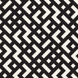 Onregelmatig Maze Shapes Tiling Contemporary Graphic-Ontwerp Vector naadloos zwart-wit patroon Stock Foto