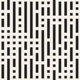 Onregelmatig Maze Shapes Tiling Contemporary Graphic-Ontwerp Vector naadloos zwart-wit patroon Royalty-vrije Stock Afbeeldingen