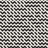 Onregelmatig Maze Shapes Tiling Contemporary Graphic-Ontwerp Vector naadloos zwart-wit patroon Royalty-vrije Stock Fotografie