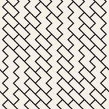 Onregelmatig Maze Shapes Tiling Contemporary Graphic-Ontwerp Vector naadloos zwart-wit patroon Stock Afbeeldingen