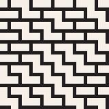 Onregelmatig Maze Shapes Tiling Contemporary Graphic-Ontwerp Vector naadloos zwart-wit patroon Royalty-vrije Stock Foto's