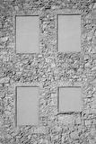 Onregelmatige steenmuur Stock Foto