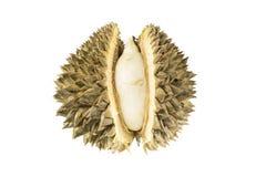 Onrijpe durian op witte achtergrond Stock Foto