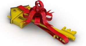 Onroerende goederen als giftReal landgoed als gift royalty-vrije illustratie