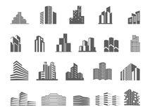Onroerende goederen embleemmalplaatje Schoon, modern en elegant stijlontwerp vector illustratie
