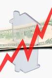 Onroerende goederen en financiën (omhoog) Stock Foto