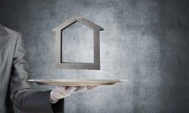 Onroerende goederen huur en het kopen concepten Stock Foto's