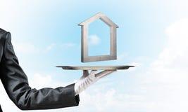 Onroerende goederen huur en het kopen concepten Stock Afbeelding