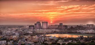 Onroerende goederen Hyderabad stock foto