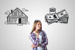 Onroerende goederen, hypotheek en huisvesting royalty-vrije stock afbeeldingen