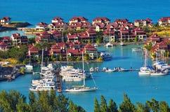 Onroerende goederen luxe, het eiland van Eden, Seychellen Royalty-vrije Stock Foto's
