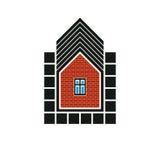 Onroerende goederengestileerd bedrijfspictogram, vector abstract huis constr Royalty-vrije Stock Foto's