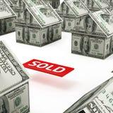 Onroerende goederenmarkt Royalty-vrije Stock Afbeeldingen