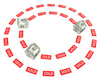 Onroerende goederenmarkt Royalty-vrije Stock Foto's