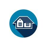 Onroerende goederenpictogram dat op wit, vector abstract huis wordt geïsoleerd Prope Royalty-vrije Stock Afbeelding
