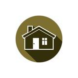 Onroerende goederenpictogram dat op wit, vector abstract huis wordt geïsoleerd Prope Royalty-vrije Stock Foto