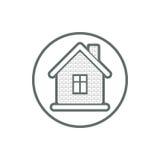 Onroerende goederenpictogram, vector abstract huis Bezitsontwikkelaar symb Royalty-vrije Stock Afbeelding