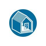 Onroerende goederenpictogram, vector abstract huis Bezitsontwikkelaar symb Royalty-vrije Stock Afbeeldingen
