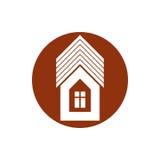 Onroerende goederenpictogram, vector abstract huis Bezitsontwikkelaar symb Stock Foto