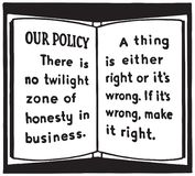 Ons Beleid vector illustratie