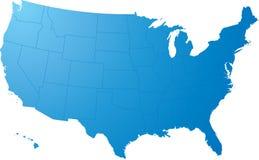 Ons brengen vlakte in kaart Royalty-vrije Stock Afbeelding