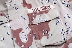Ons de camouflage van het de woestijnonweer van het legerleger Royalty-vrije Stock Afbeelding
