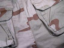 Ons de camouflagepatroon van de legerwoestijn Stock Afbeeldingen