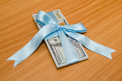 ons dollar in blauw lint Stock Foto's