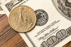 Ons dollarMacro Royalty-vrije Stock Fotografie