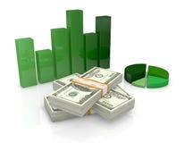 Ons dollars en grafieken stock illustratie