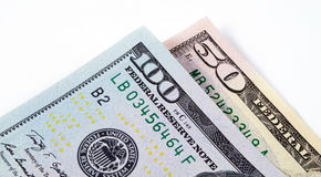 Ons dollars macroclose-up Stock Foto's