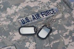 Ons eenvormige gecamoufleerd Luchtmacht stock foto's