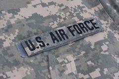 Ons eenvormige Luchtmacht royalty-vrije stock afbeeldingen