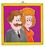 Ons huwelijk 021 vector illustratie