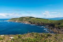 Ons Island in Galicië, Spanje stock foto's