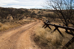 Ons-Mexicaanse Grens, Sasabe, AZ, Stock Afbeeldingen