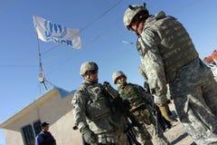 Ons Militairen in Irak stock afbeeldingen