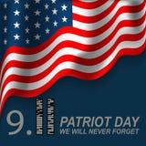 ons verzegelen en het ontwerp van de bannerillustratie 11 september Wij zullen nooit vergeten Royalty-vrije Stock Foto