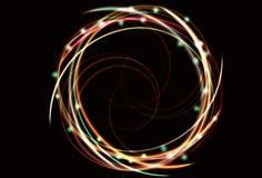 Onscherp abstract neon dat spiraalvormige achtergrond spint Royalty-vrije Stock Foto's
