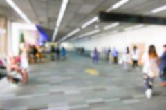 Onscherp defocused beeld van passagier bij de luchthaventerminal Royalty-vrije Stock Afbeeldingen